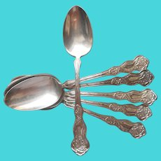 Orchid 1903 Antique Soup Spoons Monogram S Silver Plated Set 6