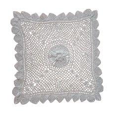 Irish Crochet Lace Square Tray Doily Antique