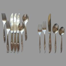 Magic Rose 1963 Set For 4 Vintage Silver Plated Flatware 4 Place Settings