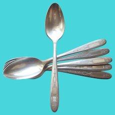 Grosvenor 1921 Teaspoons 6 Vintage Silver Plated Oneida Community