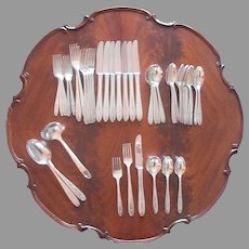 Monogram C Grosvenor 1921 Set Silver Plated Flatware Includes Gumbo Spoons