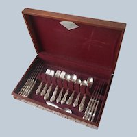 Camelot 1964 Set Silver Plated Flatware Service For 9 In Box Melody