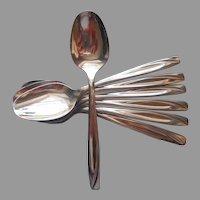 Casual Pattern IS International Stainless Steel 7 Teaspoons Vintage Flatware