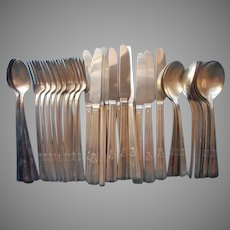 Revelation 1938 42 Pieces Vintage Silver Plated Flatware Forks Knives Iced Tea Spoons
