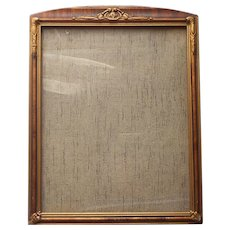 Vintage Wood Gesso Photo Frame 8 x 10 Photo Standing Hanging
