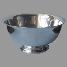Classic Revere Bowl 9 Inch Silver Plated Vintage Interior TLC