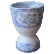 Ridgways Oriental Egg Cup Antique Blue Transferware China