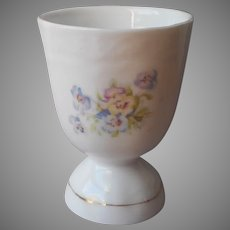 Pansies Antique Egg Cup China Large