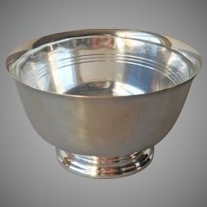 Nut Bowl Glass Liner Silver Plated Vintage Pyrex Wm. Rogers