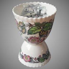 Spode Old Salem Egg Cup Vintage English China Very HTF
