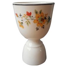 1920s to 1930s Egg Cup Orange Yellow Black Vintage China