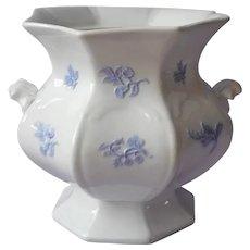 Chelsea Sprig Grandmother's Ware Sugar Bowl Base White Blue China Antique