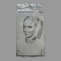 Pink Nylon Breeze Bonnet Wind Scarf Original 1960s Packaging
