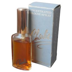 Charlie Concentrated Cologne Spray Vintage Mostly Full .5 Ounce Box