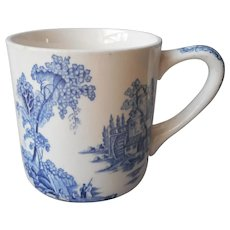 The Old Mill Mug Blue Johnson Brothers Vintage England