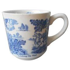 Coaching Days Blue Mug Johnson Brothers Vintage England