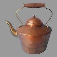 Copper Brass Tea Kettle Vintage Tagus Portugal