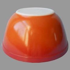 Pyrex Flameglo 402 Mixing Bowl 1.5 Qt Vintage Burnt Orange
