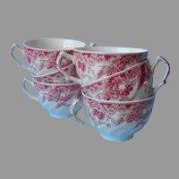 Strawberry Fair 6 Teacups Coffee Cups Johnson Brothers England Vintage