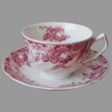 Strawberry Fair Cup Saucer Teacup Johnson Brothers England Vintage