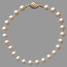 Faux Pearls Bracelet Marvella Vintage Gold Tone