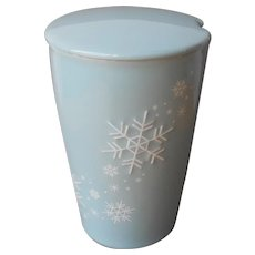 Kati Blue Snowflakes Tea Forte Tall Cup Lid Retired No Diffuser