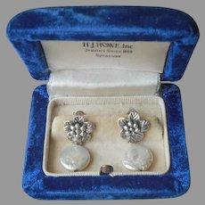 Sterling Silver Freshwater Coin Pearls Earrings Pierced