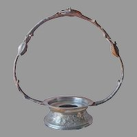 Bride's Basket Frame Holder Antique Silver Plated Branch Leaves Middletown