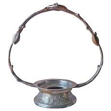 Bride's Basket Frame Holder Antique Silver Plated Branch Leaves Middletown