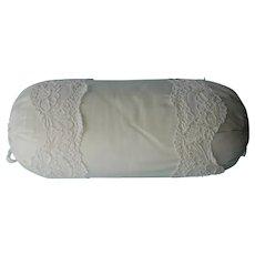 Neck Roll Pillow Vintage Moire Lace Vintage Taffeta