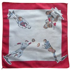 Vintage Youth Hankie Boys Sports Handkerchief Football Baseball Basketball
