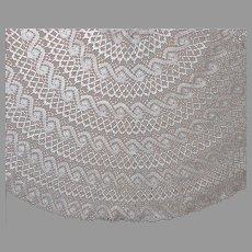 Oval Antique Lace Tablecloth Machined Bobbin Ecru 73 x 62