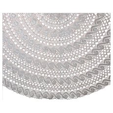 Oval Antique Lace Tablecloth Machined Bobbin Ecru 73 x 62
