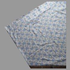 French Duvet Vintage Blue White Cotton Print TLC