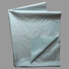 Aqua Striped Taffeta Fabric Vintage 4 Yards Ideal For Doll Dress Making