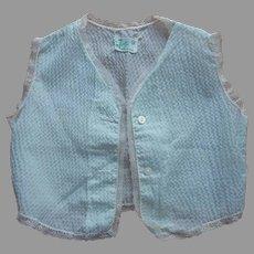 Baby Sleeveless Shirt Vest Lace Plisse Jolie New Orleans Vintage 1950s
