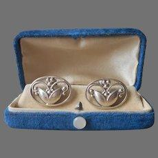 Georg Jensen Sterling Silver Earrings Vintage Screw Back Signed