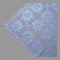 Crocheted Lace Tablecloth Smaller Vintage Kitchen 58 x 46