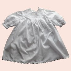 Antique Baby Dress 1910s Approx 9 to 12 Months Size Hand Embroidered