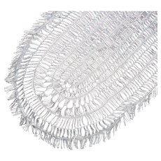 Hairpin Lace Oval Centerpiece Doily Antique Simple