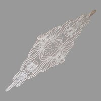 Macrame Lace Tape Braid Doily Vintage European