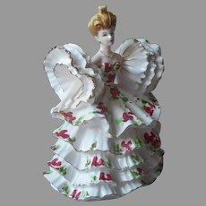 Lefton Model 400 Figurine Ruffles For Days Vintage Big Updo Hair Porcelain TLC