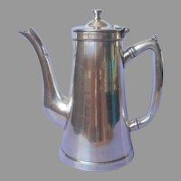 Hotel Silver Coffee Pot Wear Brite Solid Nickel Very Vintage
