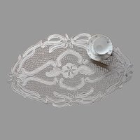 Macrame Lace Tape Braid Centerpiece Vintage Cream Color European
