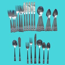 Coronation 1936 Flatware Luncheon Set Vintage Silver Plated Service For 6