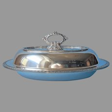 Serving Dish Vintage Silver Plated Convertible Removable Handle