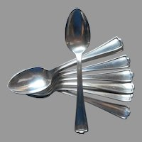 Cromwell 1912 Teaspoons 8 Antique Silver Plated