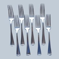 Cromwell 1912 Dinner Forks 8 Antique Silver Plated