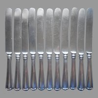 Cromwell 1912 Dinner Knives 12 Antique Silver Plated