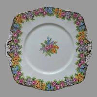 Paragon Old English Garden Cake Serving Plate Vintage Bone China